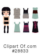 Royalty-Free (RF) Fashion Clipart Illustration #28833