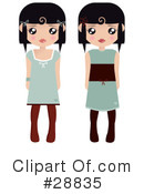 Royalty-Free (RF) Fashion Clipart Illustration #28835