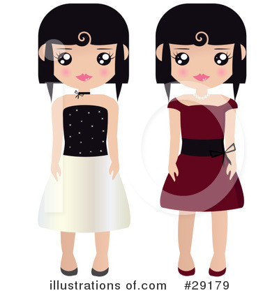 Dress Clipart #29179 by Melisende Vector