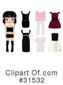 Royalty-Free (RF) Fashion Clipart Illustration #31532
