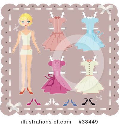 Paper Dolls Clipart #33449 by Melisende Vector