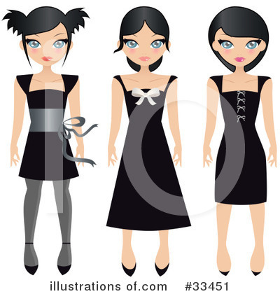 Royalty-Free (RF) Fashion Clipart Illustration by Melisende Vector - Stock Sample #33451