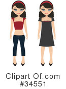 Royalty-Free (RF) fashion Clipart Illustration #34551