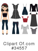 Royalty-Free (RF) Fashion Clipart Illustration #34557