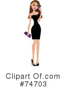 Royalty-Free (RF) fashion Clipart Illustration #74703