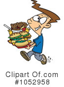 Royalty-Free (RF) Fast Food Clipart Illustration #1052958