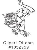 Royalty-Free (RF) Fast Food Clipart Illustration #1052959