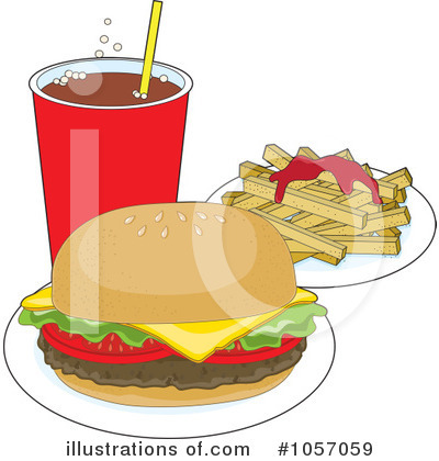 Royalty-Free (RF) Fast Food Clipart Illustration by Maria Bell - Stock Sample #1057059