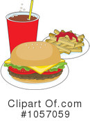 Royalty-Free (RF) Fast Food Clipart Illustration #1057059