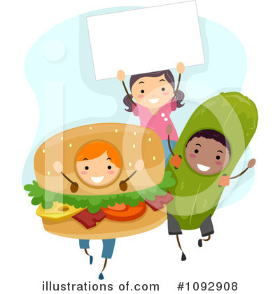 Royalty-Free (RF) Fast Food Clipart Illustration by BNP Design Studio - Stock Sample #1092908
