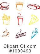 Royalty-Free (RF) Fast Food Clipart Illustration #1099493
