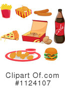 Royalty-Free (RF) Fast Food Clipart Illustration #1124107