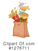 Royalty-Free (RF) Fast Food Clipart Illustration #1276711