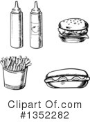 Fast Food Clipart #1352282 by Vector Tradition SM