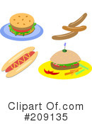 Royalty-Free (RF) Fast Food Clipart Illustration #209135