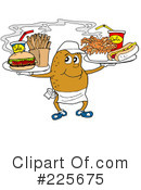 Royalty-Free (RF) Fast Food Clipart Illustration #225675