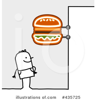 Royalty-Free (RF) Fast Food Clipart Illustration by NL shop - Stock Sample #435725