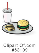 Royalty-Free (RF) Fast Food Clipart Illustration #63109