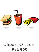 Royalty-Free (RF) Fast Food Clipart Illustration #72466