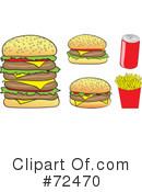 Royalty-Free (RF) Fast Food Clipart Illustration #72470