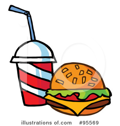 Burger Clipart #95569 by Hit Toon