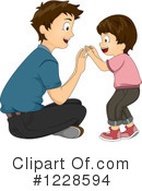 Royalty-Free (RF) Father Clipart Illustration #1228594