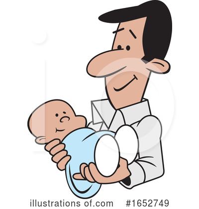 Father Clipart #1652749 by Johnny Sajem