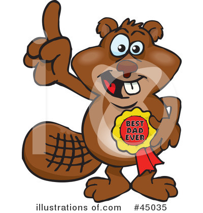 Beaver Clipart #45035 by Dennis Holmes Designs