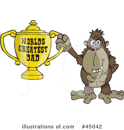 Monkey Clipart #45042 by Dennis Holmes Designs