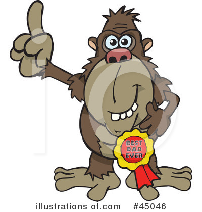 Monkey Clipart #45046 by Dennis Holmes Designs