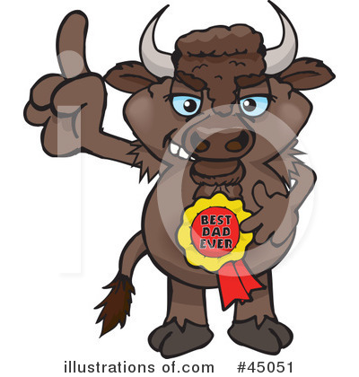 Bison Clipart #45051 by Dennis Holmes Designs