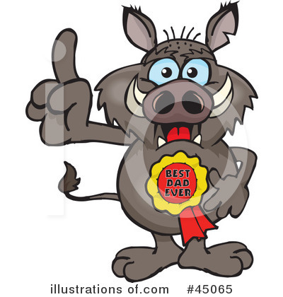 Boar Clipart #45065 by Dennis Holmes Designs