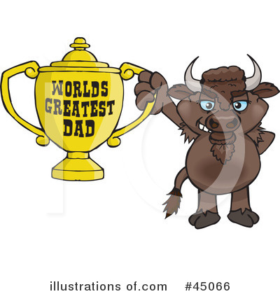 Bison Clipart #45066 by Dennis Holmes Designs