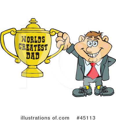 Royalty-Free (RF) Fathers Day Clipart Illustration by Dennis Holmes Designs - Stock Sample #45113