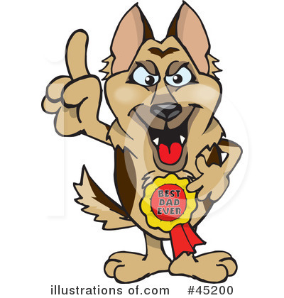 German Shepherd Clipart #45200 by Dennis Holmes Designs