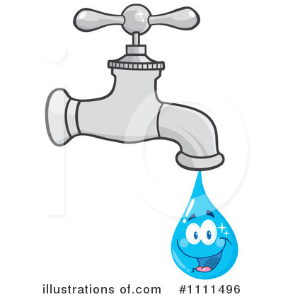 Faucet Clipart #1111496 - Illustration by Hit Toon