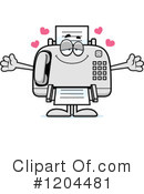 Fax Machine Clipart #1204481 by Cory Thoman