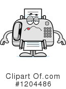 Fax Machine Clipart #1204486 by Cory Thoman