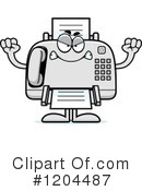 Fax Machine Clipart #1204487 by Cory Thoman