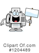 Fax Machine Clipart #1204489 by Cory Thoman