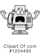 Fax Machine Clipart #1204490 by Cory Thoman