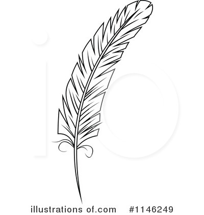 Royalty-Free (RF) Feather Clipart Illustration by Vector Tradition SM - Stock Sample #1146249