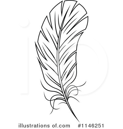 Feather Clipart #1146251 by Vector Tradition SM