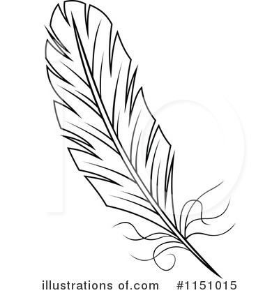 Feather Clipart #1151015 by Vector Tradition SM