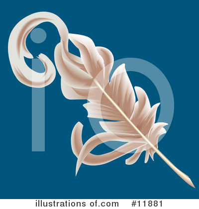 Feather Quill Clipart #11881 by AtStockIllustration