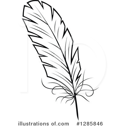 Feather Clipart #1285846 by Vector Tradition SM