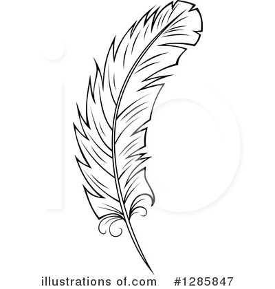 Feather Clipart #1285847 by Vector Tradition SM