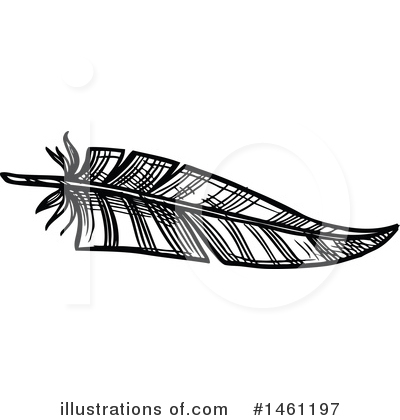 Feather Clipart #1461197 by Vector Tradition SM