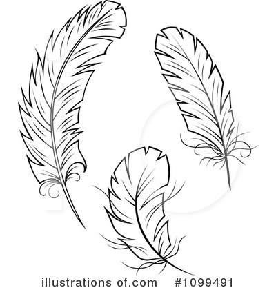 Feather Clipart #1099491 by Vector Tradition SM