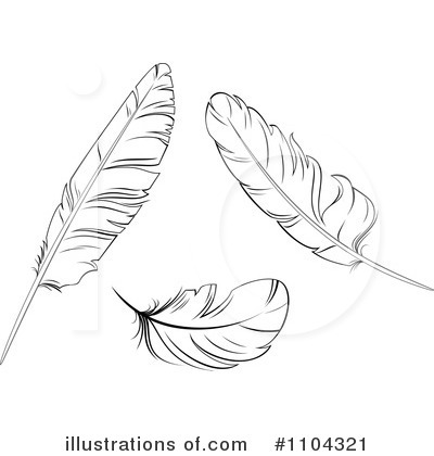 Feather Clipart #1104321 by Vector Tradition SM